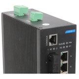 Interruptor industrial de la red de Ethernet de 8 accesos con la fibra 4
