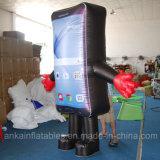 Рекламировать Costume талисмана раздувного модельного телефона Moving для сбывания