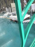 Tipo de superfície liso revestido cerca municipal da flor do pó verde do lustro para a segurança e a decoração