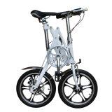 """ Bike рамки сплава 16 двойной складывая складывая"