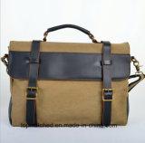 Nuevo bolso del mensajero del hombro del cuero de la lona del bolso de la lona del estilo