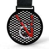 卸し売り亜鉛合金はダイカストの黒いスポーツメダルを