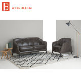 Butaca de cuero moderna del sofá de Brown para la sala de estar