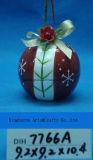 Baubles cerâmicos decorativos da árvore de Natal