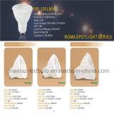 Luz do ponto do diodo emissor de luz do esmalte 5W 7W GU10 para a decoração