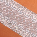 Lacet pourpré de textile de configuration de couleur de cordon de lacet de plomb frais de tissu