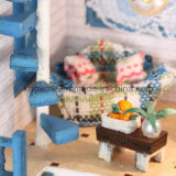 Glückliches neues hölzernes Spielzeug Dollhosue des Jahr-2017 des Kind-DIY mit Glaskugel Mini-Romantischem Agan Meer