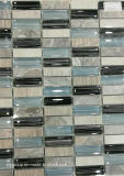 Mosaico di pietra blu e nero bianco Jy41k di cristallo della miscela