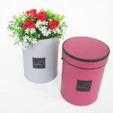 Caja de embalaje de la flor del OEM del regalo redondo del papel