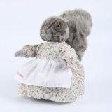 부드럽게 회색 박제 동물 토끼 견면 벨벳 토끼 장난감