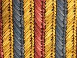 袋のための鮮やかで多彩な編まれた木製の穀物PUのレザー、装飾、靴(HS-Y62)