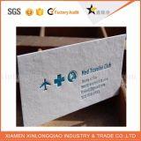 中国OEMのカスタム印刷によってめっきされるペーパー名刺の名刺