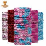 Flor de confeção de malhas bonita Headwear tubular de Rosa do lenço do Natal