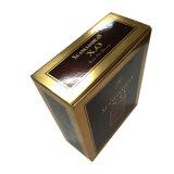 Коробка золотистого бумажного вина упаковывая, может квартира упакованная для перевозкы груза