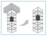 Maschine Roomless gute Qualität Fracht / Waren-Aufzug