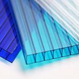 Farbiges UVschutz Lexan Polycarbonat-Höhlung-Blatt
