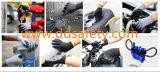 Luva do trabalho do revestimento de Sandy do nitrilo do preto do escudo do cinza de Ddsafety 2017
