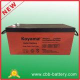 batteria solare del gel acido al piombo di 12V 250ah per il sistema solare di PV
