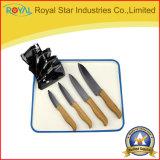 5 van het Zirconiumdioxyde van het Bamboe van het Handvat stukken Mes van de Messen van het Ceramische met Houder