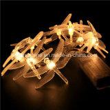 Stringa bianca calda dell'indicatore luminoso leggiadramente della libellula con a pile per la decorazione domestica