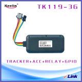APP網SMS Tk119-3Gによって追跡される3G/2g車GPSの追跡者