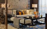 Sofá de madeira da mobília moderna da sala de visitas do restaurante do hotel