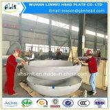 Gran diámetro tapas extremas cabezales cóncavos de acero al carbono cabeza elíptica