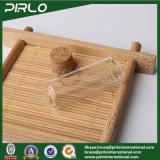 5mlは木製のコルクストッパーが付いているガラスガラスびんの精油の香水のテスターのガラスビンを取り除く
