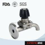 Válvula de diafragma higiénica de tres vías del acero inoxidable (JN-DV1016)