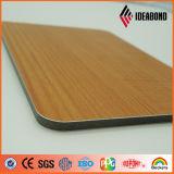 Панель стены серии касания Ideabond выбитая новым продуктом деревянная алюминиевая