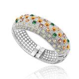 Braccialetto di cristallo del lusso di temperamento della regina del Rhinestone delle 2017 leghe