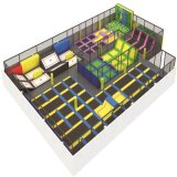 Equipamento interno personalizado de venda quente do parque do Trampoline das crianças