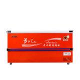 Compra inferior profunda do refrigerador da porta deslizante no grande volume