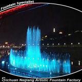Allumage de la fontaine courante Waterscape de fleuve