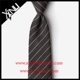 Legame Handmade di Grey di carbone di legna del jacquard della seta di 100% per gli uomini