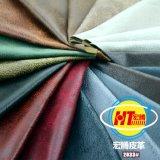 Cuoio sintetico respirabile ecologico del PVC per la mobilia del sofà (Hongjiu-2033#)