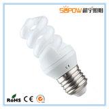 Pleine lampe d'économie d'énergie de T3 ESL/CFL de la spirale 8W