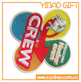 Correção de programa distorcido do algodão, emblema de pano para a lembrança (YB-pH-12)