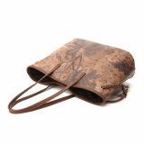 O saco de ombro o mais simples da impressão da flor de Brown do vintage (MBNO040114)