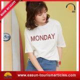 T-shirt irregular da forma do Hem das mulheres da alta qualidade, t-shirt da promoção