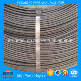 alambre de acero de la PC espiral de las costillas de 5.0m m para el cemento postes