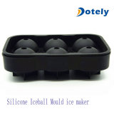 Bandejas do cubo de gelo do silicone combinados com tampa