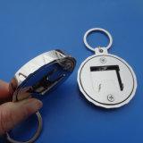 Trousseau de clés en alliage de zinc blanc 50.8mm d'ouvreur de bouteille ronde en métal