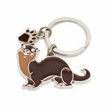 Porte-clés en métal promotionnel la moins chère avec logo