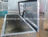 Medio con cierre de aluminio de agua Cajas de herramientas de prueba para Remolque