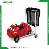 Trolley para crianças com brinquedos infantis de supermercado com carro de brinquedos