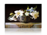 Art Art Decorative Flower Canvas Prints Peinture à l'huile classique imprimée sur toile