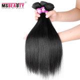 Cabelo reto do Indian do Virgin dos pacotes das extensões agradáveis do cabelo humano da qualidade