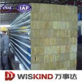 El panel de emparedado incombustible de las lanas de roca del aislante de la construcción