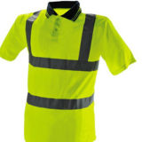 Тельняшка безопасности движения с отражательным материалом для работника проезжей части